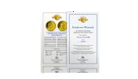 Najmniejsze Złote Monety Świata - Certyfikat Autentyczności