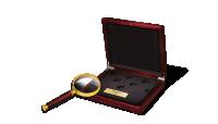 Najmniejsze Złote Monety Świata - Kasetka kolekcjonera i lupa numizmatyczna