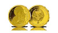 Najmniejsze Złote Monety Świata - Matka Boska Częstochowska