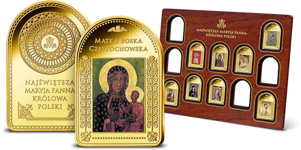 kolekcja-platerowana-zlotem-matka-boska-czestochowska
