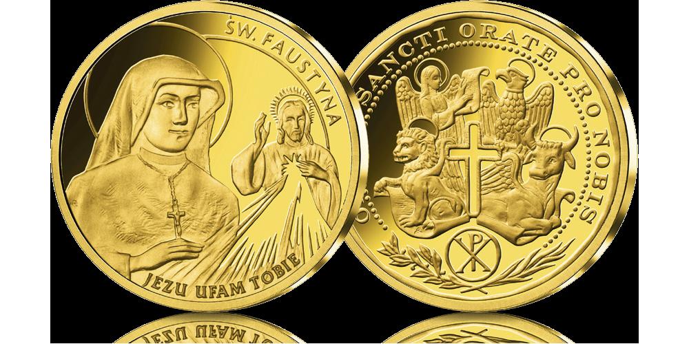 platerowane-zlotem-medale-kolekcja-wszyscy-swieci-faustyna