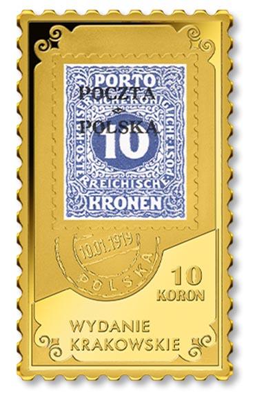 numizmat ze znaczkiem Wydanie Krakowskie