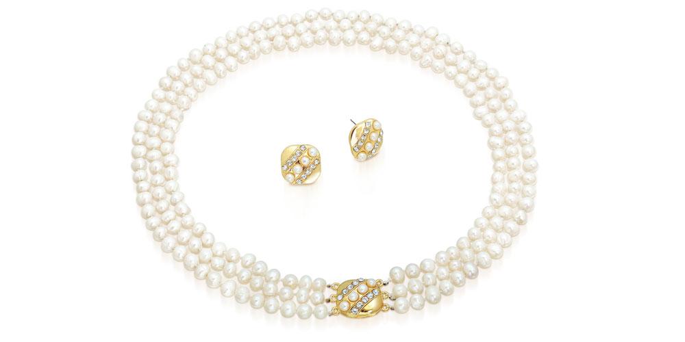 Naszyjnik z perłami.
