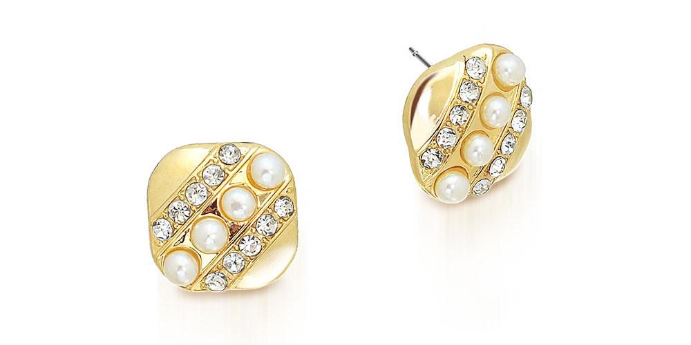 Eleganckie kolczyki ozdobione perłami.