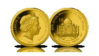 kolekcja złote monety nowe siedem cudów świata taj mahal