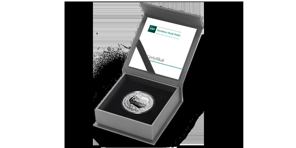 Oryginalne pudełko kolekcjonerskie i Certyfikat Autentyczności NBP.