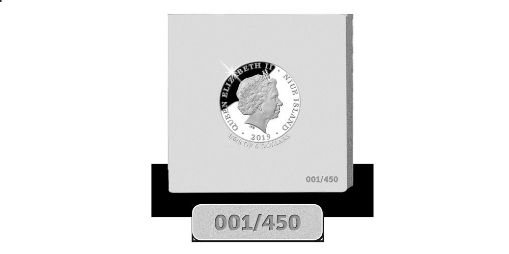 Srebrne monety z indywidualnym numerem.