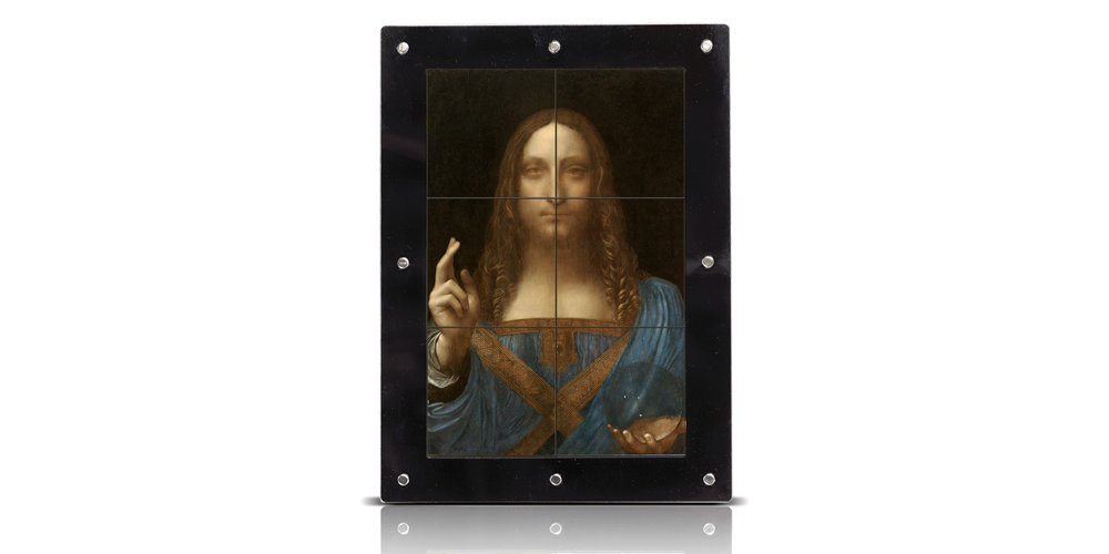 Salvator Mundi da Vinci na oficjalnych srebrnych monetach.