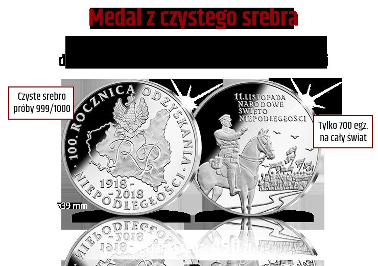 Medal wybity w dniu Święta Niepodległości 11.11.2017