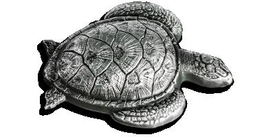 Oficjalna srebrna moneta o unikatowym kształcie żółwia