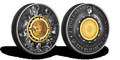 Oficjalna srebrna moneta z prawdziwym kompasem