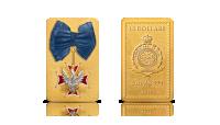 Moneta Order Orła Białego wybita z 5 uncji srebra, poplaterowana złotem i ręcznie zdobiona