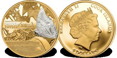 Pamiątkowa srebrna moneta Motyl 2015