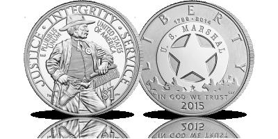 Pamiątkowy srebrny dolar z 2015 roku upamiętniający amerykańską agencję federalną