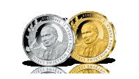 Pamięci Świętego Jana Pawła II - zestaw srebrnych medali