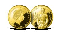 Złota moneta o wadze 1 uncji z wizerunkiem Józefa Piłsudskiego.