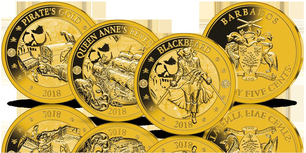monety-platerowane-zlotem-piraci-barbados-zestaw