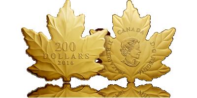 Po raz pierwszy w historii - kanadyjska złota moneta w kształcie liścia klonowego
