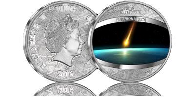 Jedyna moneta wybita w prawdziwym meteorycie