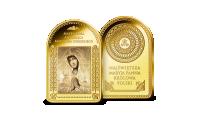 Madonna Sobieskiego Adorująca na sztabce platerowanej czystym złotem