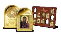 Matka Boska Częstochowska na medalu platerowanym cennym złotem