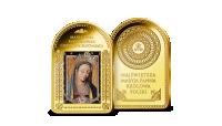 Matka Cierpliwie Słuchająca na sztabce platerowanej cennym złotem