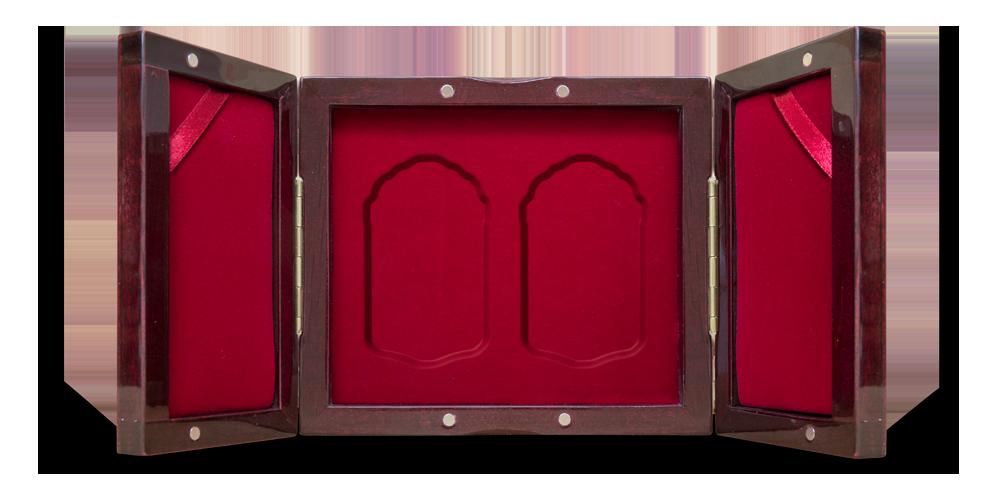 trójskrzydłowe pudełko z możliwością prezentacji w pionie
