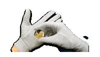 Rękawiczki kolekcjonera monet