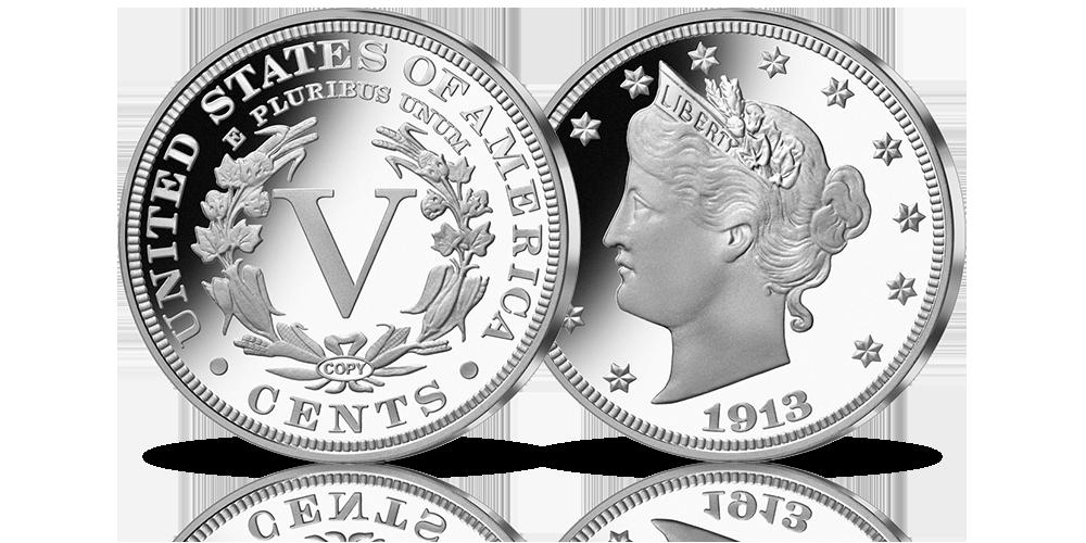 kolekcjonerskie-repliki-srebrnych-zlotych-monet-5-centow-liberty