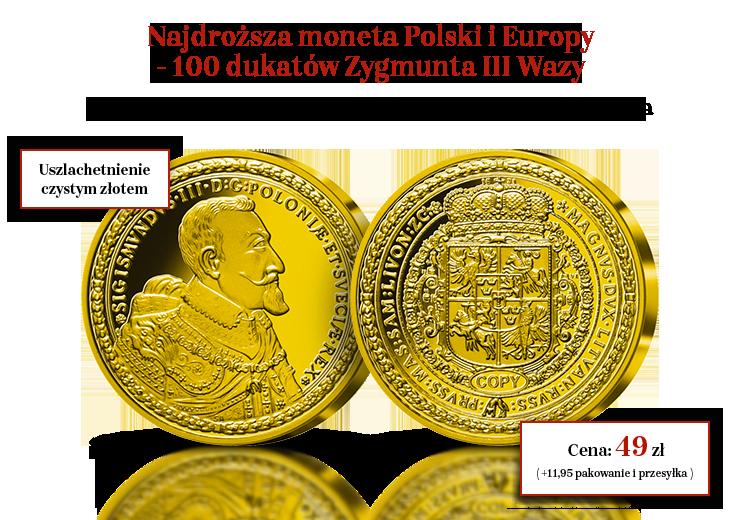 100 dukatów Zygmunta III Wazy – najdroższa moneta Polski i Europy wybita w Bydgoszczy