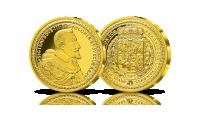 kolekcjonerska replika sto dukatów zygmunta iii wazy srebrna replika uszlachetniona czystym złotem