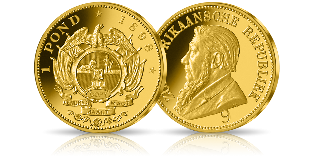"""""""Single 9"""" najrzadsza moneta Południowej Afryki warta 1,4 mln $ - złota replika"""