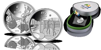 Rio 2016 - Forro / Siatkówka Oficjalna moneta okolicznościowa igrzysk olimpijskich!