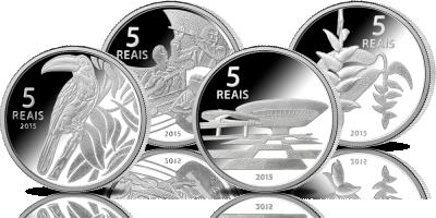 Rio 2016. Komplet oficjalnych monet olimpijskich z Brazylii