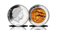Rok Psa na srebrnej monecie z masą perłową. Imponująca waga: aż 5 uncji.