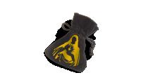 Welwetowa sakiewka z konturem postaci Matki Bożej Niepokalanego Serca do bezpiecznego przechowywania monety.