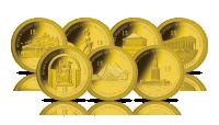 Siedem Cudów Świata na złotych monetach