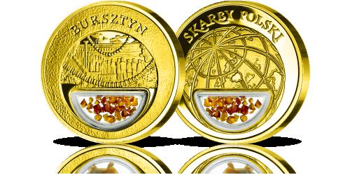bursztyn-medal-platerowany-zlotem