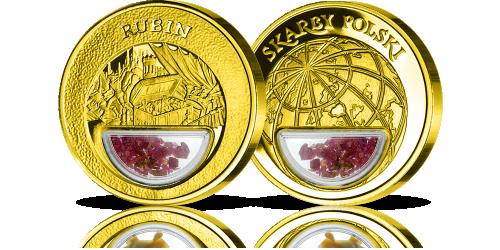 Rubin-recznie-umieszczony-w-medalu