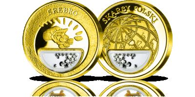 Srebro - skarb polskiej ziemi w medalu platerowanym czystym złotem