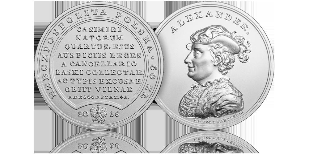 srebrna-moneta-nbp-aleksander-jagiellonczyk