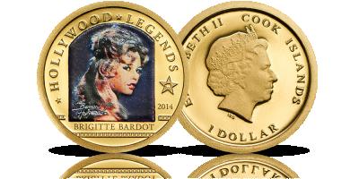 Słynna francuska aktorka na złotej monecie