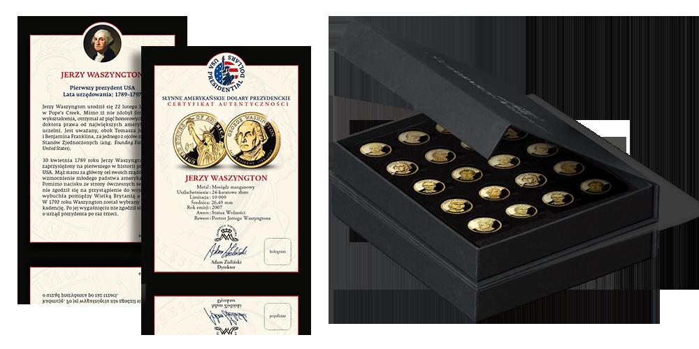 Słynne Amerykańskie Dolary Prezydenckie