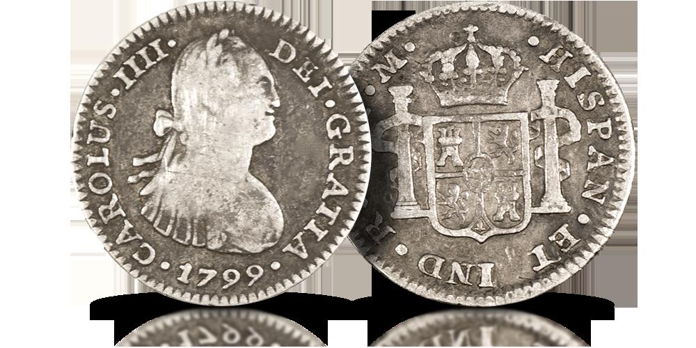 srebrne-historyczne-monety-hiszpanskie-stary-dziki-zachod-pol-reala