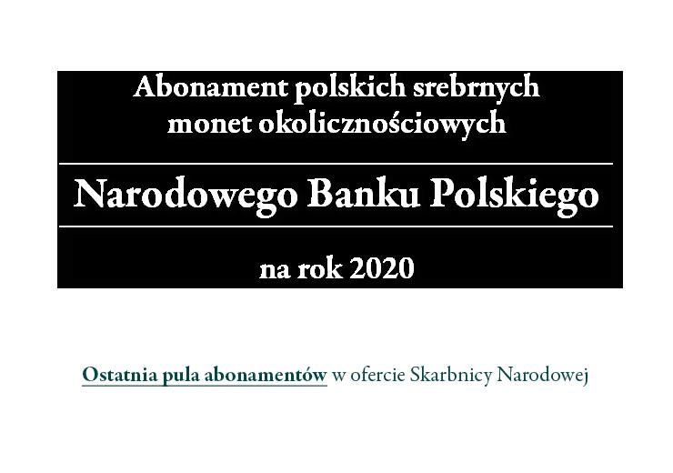 Oficjalne Srebrne Monety Narodowego Banku Polskiego 2020