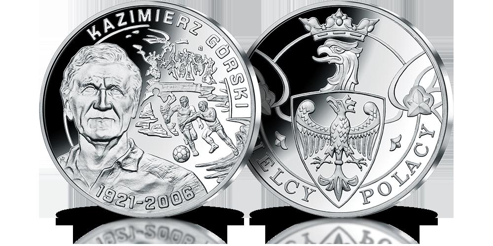 Srebrny medal upamiętniający Kazimierza Górskiego