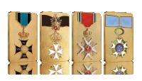 ordery i odznaczenia na pamiątkowych sztabach zdobione cennym złotem