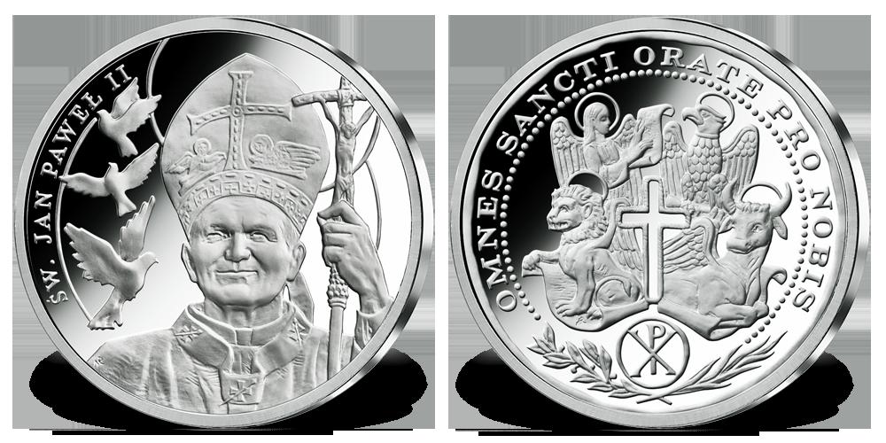 srebrne-medale--kolekcja-wszyscy-swieci-jan-pawel-ii