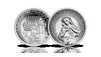 10. rocznica tragedii smoleńskiej na srebrnej monecie NBP.