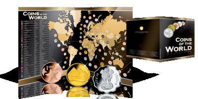 Unikalna mapa z monetami 50 krajów